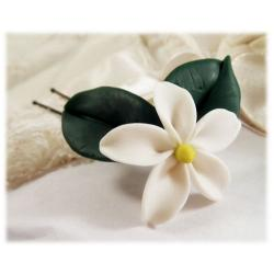 Realistic Jasmine Hair Flower