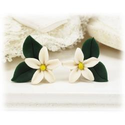 Realistic Jasmine leaf Earrings