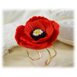 Red Poppy Ring