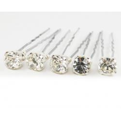 Square Clear Rhinestone Hair Pins
