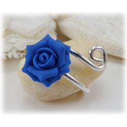 Rose Wrapped Silver Ring