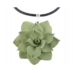 Green Succulent Choker Necklace