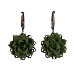 Succulent Filigree Dangle Earrings