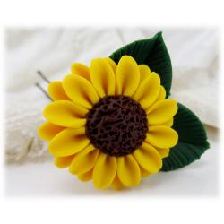 Sunflower Leaf Hair Pin