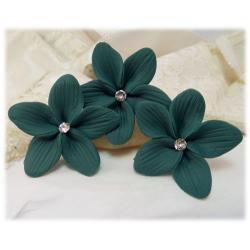 Teal Hair Flowers