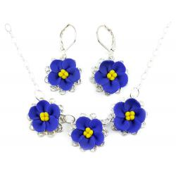 African Violet Jewely Set