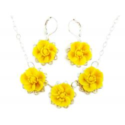 Three Buttercup Jewelry Set
