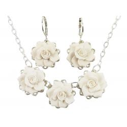 Three Gardenias Jewelry Set