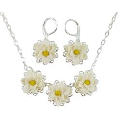 Three Magnolias Jewelry Set