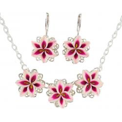 Three Stargazer Lily Jewelry Set