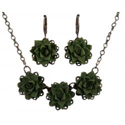 Three Succulents Jewelry Set