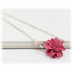Tiny Dahlia Simple Necklace
