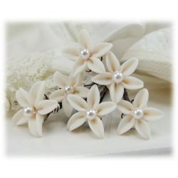 Tiny Jasmine Pearl Hair Pins
