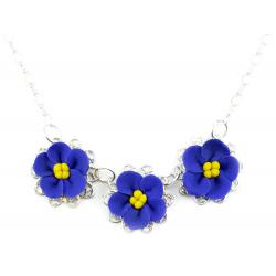 Trio African Violet Necklace