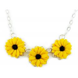 Trio Black Eyed Susan Necklace
