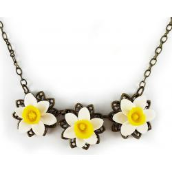 Trio Daffodil Necklace