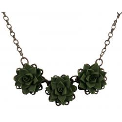 Trio Succulent Necklace