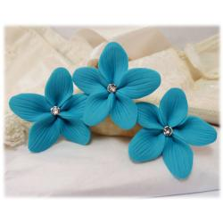 Turquoise Hair Flowers