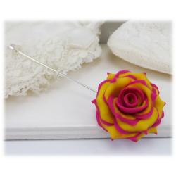 Variegated Rose Stick Pin