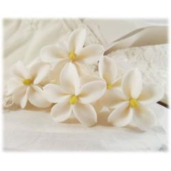 White Jasmine Hair Pins