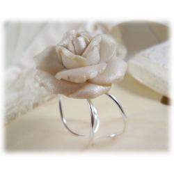 Large White Rose Ring