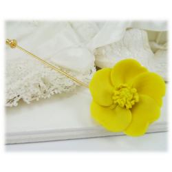 Yellow Buttercup Stick Pin