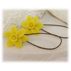 Yellow Daffodil Drop Earrings