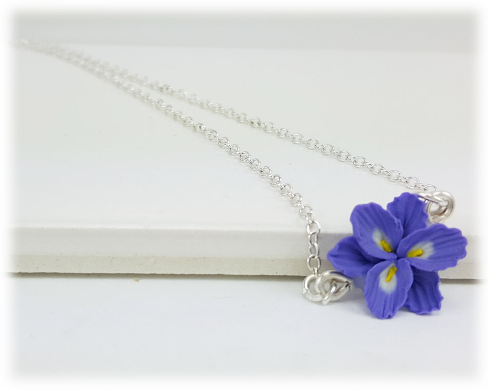 Tiny Purple Freesia Simple Necklace Stranded Treasures