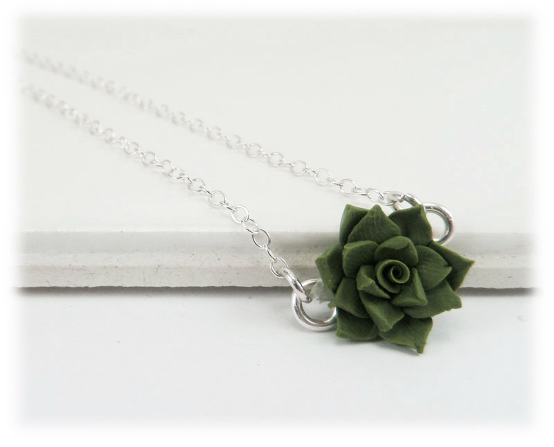 Tiny succulent necklace simple flower necklace for Gemsprouts tiny plant jewelry