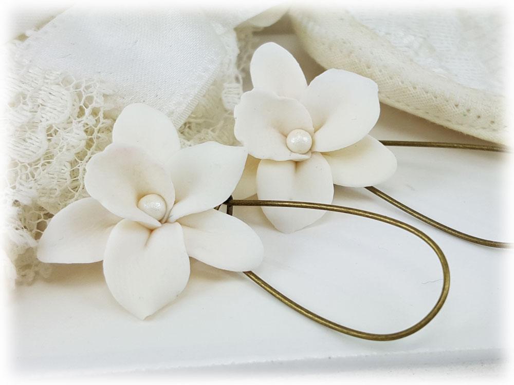 white orchid flower drop earrings amp dangle earrings