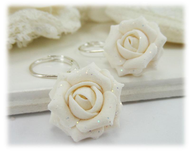 White rose glitter drop earrings dangle earrings white rose glitter drop earrings mightylinksfo