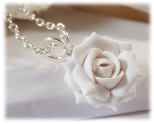 White Rose Necklace White Rose Jewelry Stranded Treasures