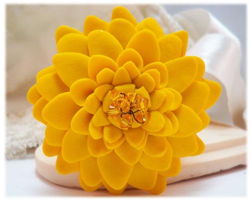 Large yellow chrysanthemum brooch large yellow flower lapel large yellow chrysanthemum brooch pin mightylinksfo