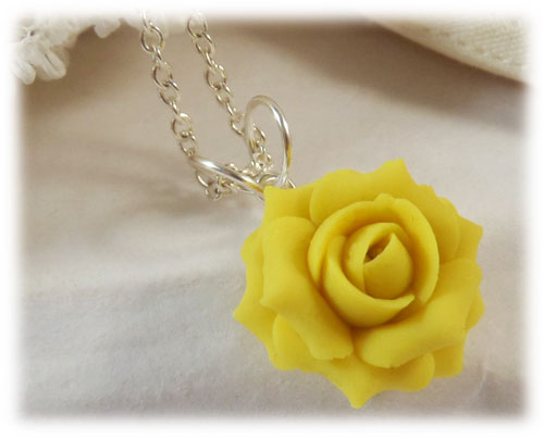 Yellow Rose Necklace Yellow Rose Jewelry Stranded