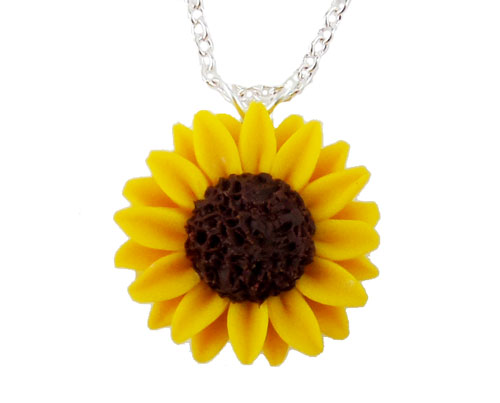 Yellow sunflower necklace yellow sunflower pendant sunflower pendant necklace mightylinksfo Choice Image