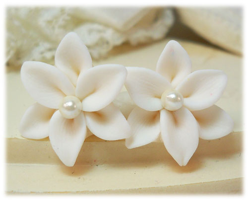 Lily Pearl Stud Earrings - More Colors