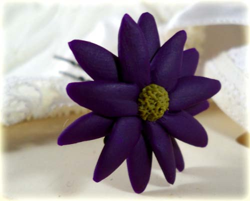 Purple African Daisy Hair Pins