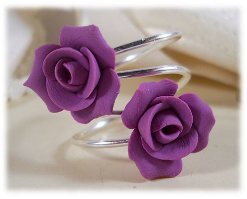 Purple Rose Symbol Ring