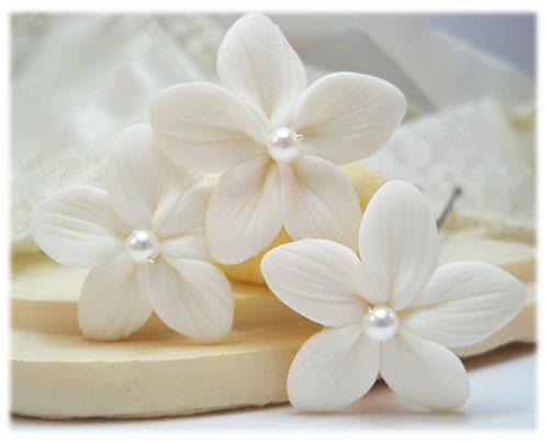 Stephanotis Pearl Hair Pins