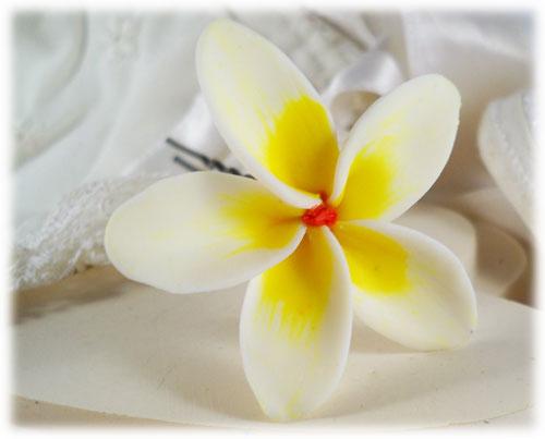 Plumeria Hair Pins : Hawaiian Hair Flower : Tropical Flower for Hair